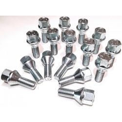14x1.5 Bimecc kúpos  L 25mm 17-es fejű kerék csavar ID28752