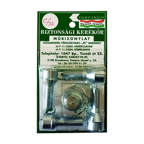 12x1.25 Ho-ki-to kúpos  L 27mm 17-es fejű kerékőr csavar ID20506