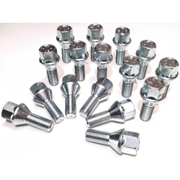 12x1.5 Bimecc kúpos  L 26mm 17-es fejű kerék csavar ID28757